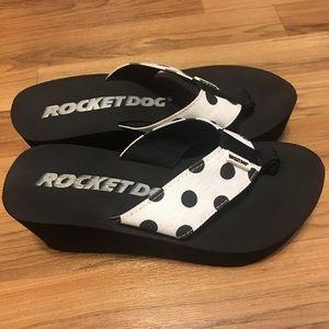 Polka Dot Wedged Sandals